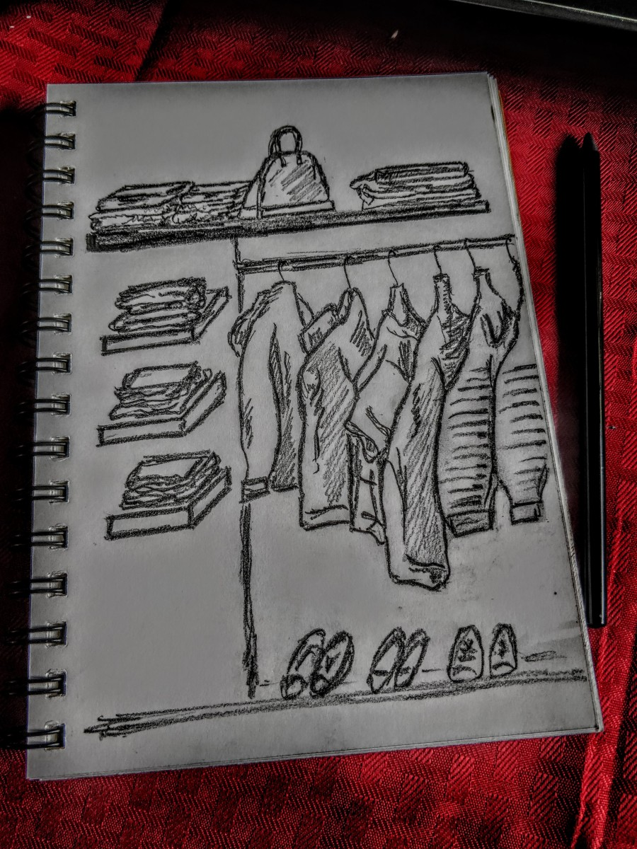 The wardrobe: sketch #8