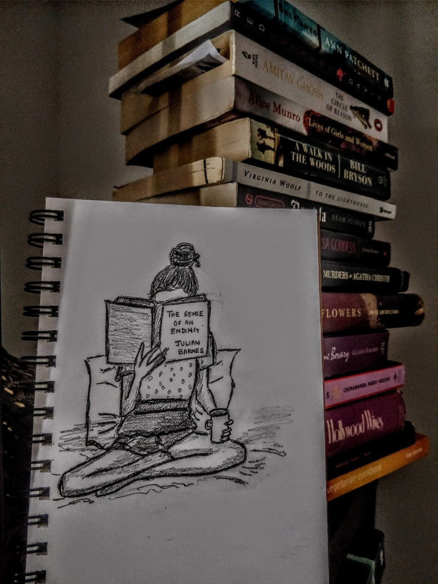 A cuppa and a book: sketch #9